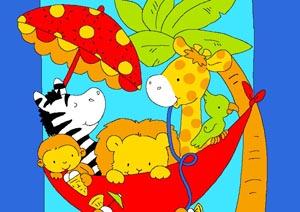 Детские рисунки на ковровом покрытии
