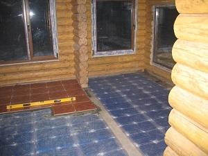 Пленочный теплый пол под плитку