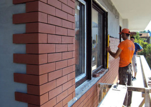 How to install facade tiles