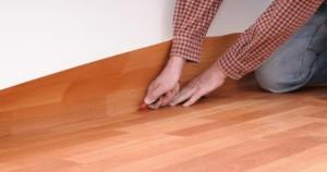 Как постелить линолеум на бетонный пол?