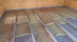 Теплоизоляция пола деревянного дома