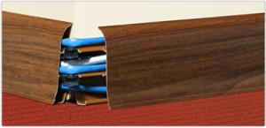 Потолочный плинтус с кабель каналом