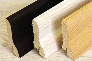 Плинтуса напольные деревянные шпонированные