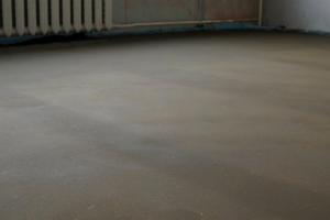 Подготовка бетонного пола под линолеум